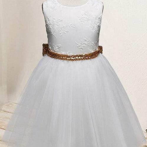 Biele Dievčenské Krajkové Šaty