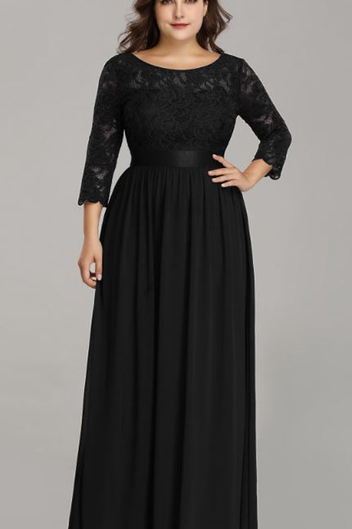 Spoločenské šaty BLACK 7412