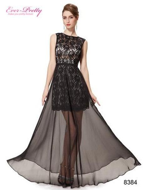 Čierne krajkové šaty 8487 SKLADOM