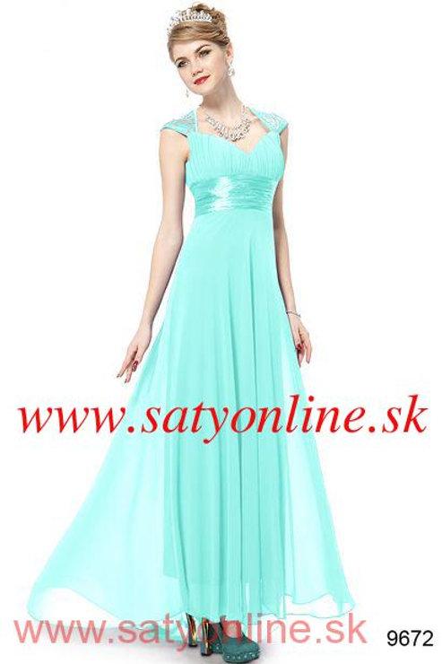 Tyrkysové šaty 9672 SKLADOM