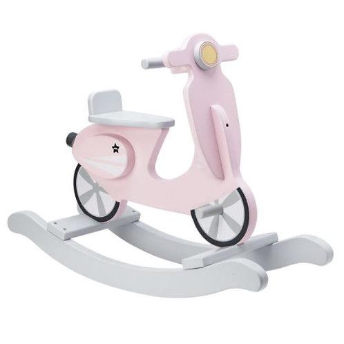 Kids Concept Hojdací Skúter Drevený Pink White