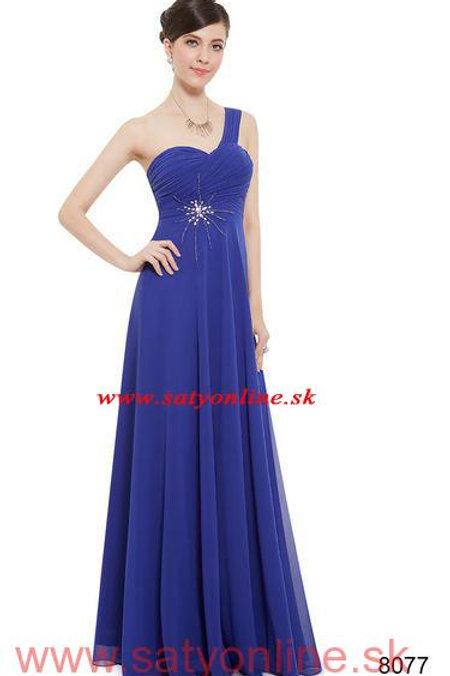 Modré spoločenské šaty 8077 SKLADOM