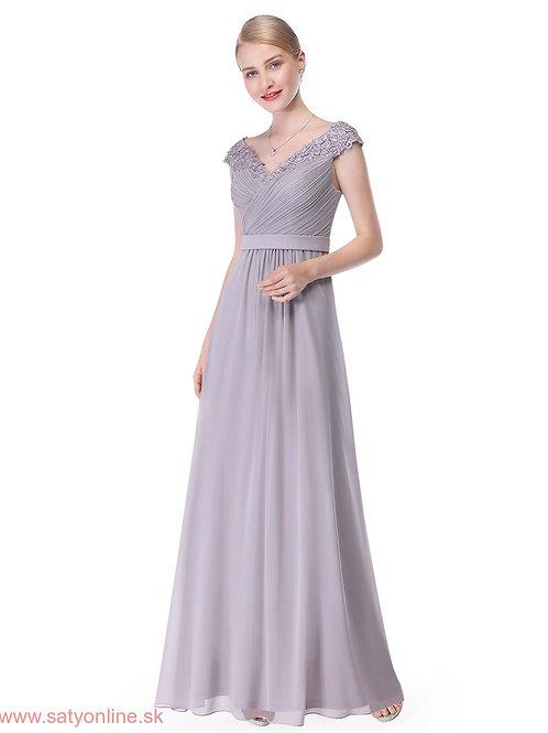 Sive spoločenské šaty 8633 SKLADOM