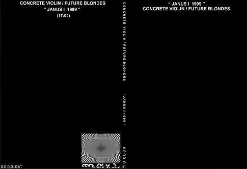 "CONRETE VIOLIN / FUTURE BLONDES ""JANUS I 1999"" CDR"