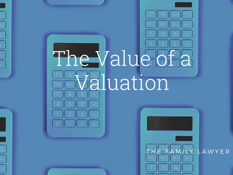 The Value of a Valuation