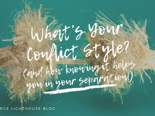 What's Your Conflict Style? (and how knowing it helps you in your separation!)