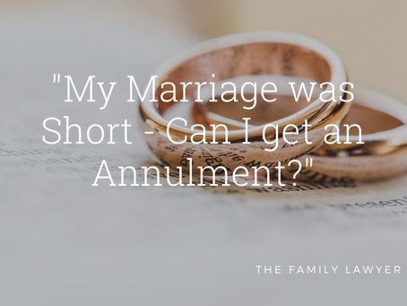 My Marriage was Short - Can I get an Annulment?