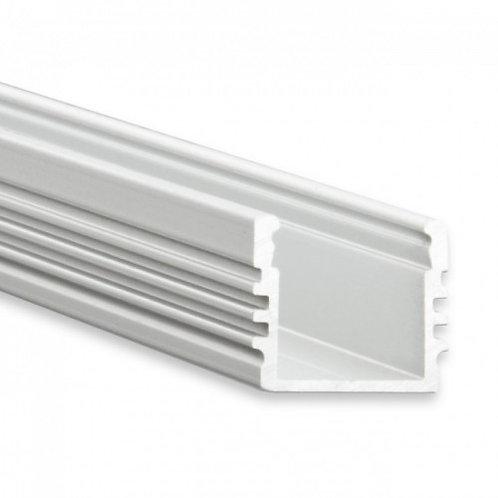 PL2 LED AUFBAU-Profil 200 cm, hoch, LED Stripes max. 12 mm