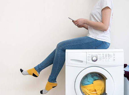 Smarte Waschmaschine - Schatz die Wäsche ist fertig!