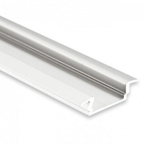 PL8 LED EINBAU-Profil 200 cm, flach Flügel, LED Stripes max. 12 mm
