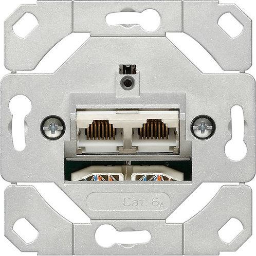 Gira Netzwerk-Anschlussdose Cat.6A, 2-fach