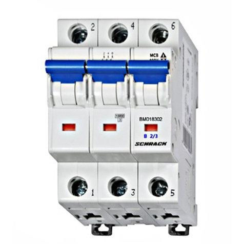 Sicherungsautomat, Kennlinie B, 3-polig