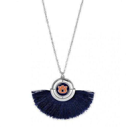Auburn Pendant Tassel Necklace
