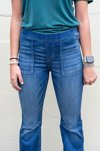 Cello Pull On Flare Legging with Utility Pockets