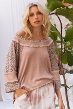 Mauve Fearless Perfect Knit Top