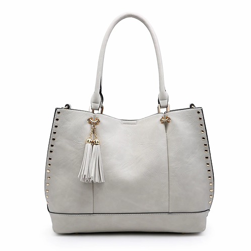 Studded 2 in 1 Monogrammable Tote (3 colors)