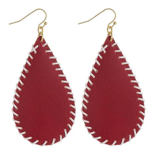 Faux Leather Teardrop Earrings (AL and AU)