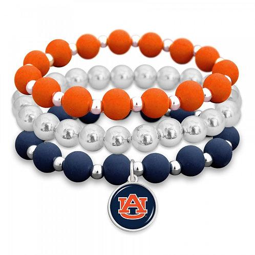 Auburn Beaded Stretch Bracelet Set