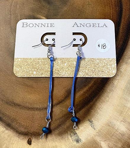 Blue String Earrings