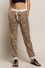 Leopard Print Fleece Joggers