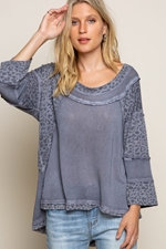 Charcoal Fearless Perfect Knit Top