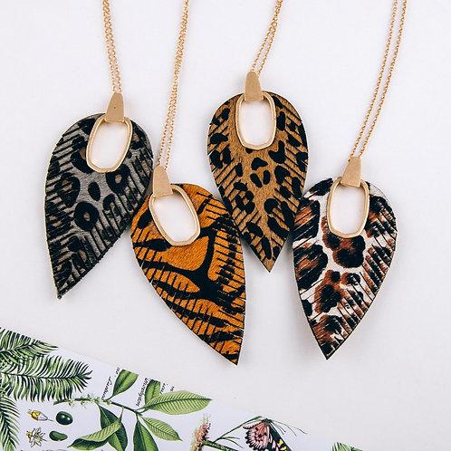 Cowhide Leopard Print Pendant