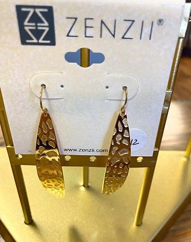Laser Cut Gold Earrings