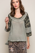 Camo Fearless Perfect Knit Top