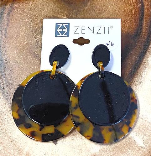 Tortoise Double Circle Earrings