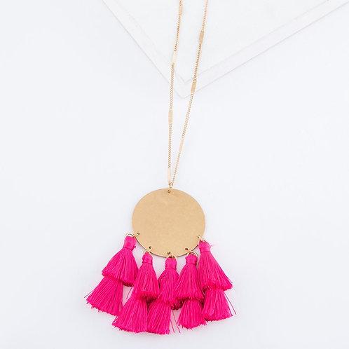 Fan Tassel Bohemian Pendant Necklace