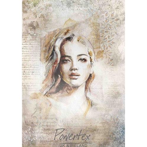 'Portrait 1' Silk paper