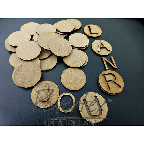 'Alphabet' MDF letters and circles