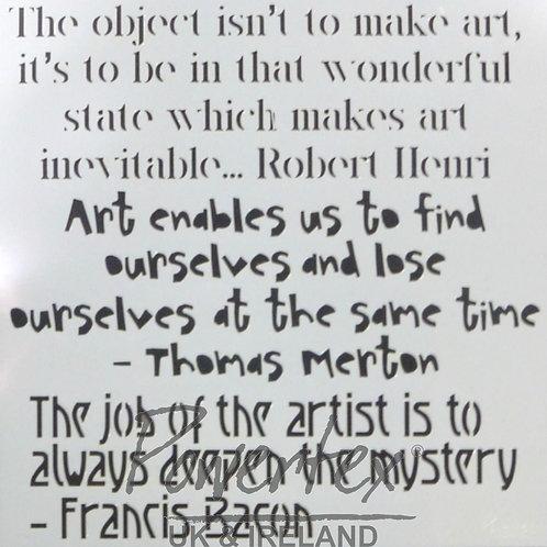 'Arty quotes' Stencil