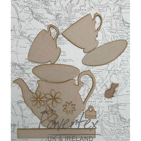'Tea party' MDF set