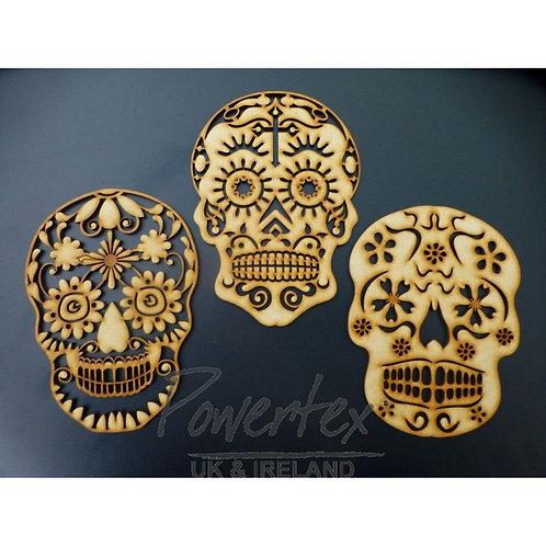 Sugar skull' MDF trio