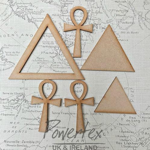 'Pyramid Ank' MDF trio