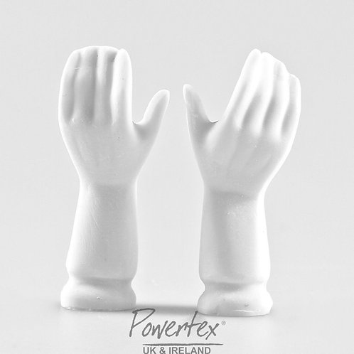 Female plaster hands