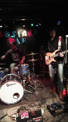 Sound check at Bastard Bar,