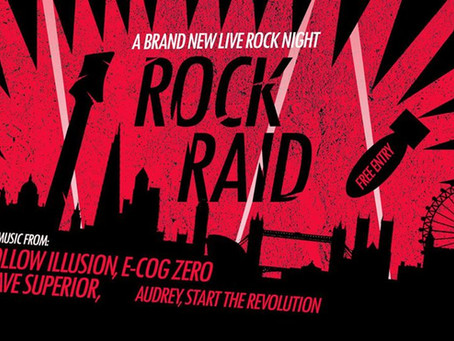 A BRAND NEW LIVE ROCK NIGHT: ROCK RAID AT CAFE 1001, LONDON, UK!!