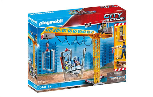 Playmobil 70441 City Action RC Remote Control Crane Building Section