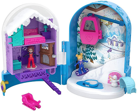 Polly Pocket World Snowball Surprise Compact Playset