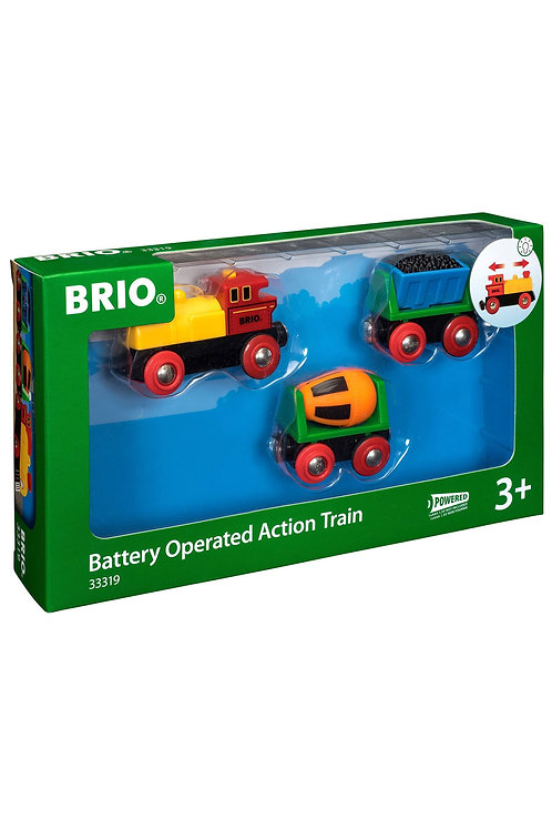 Brio Battery Operated Action Train 33319 Wooden Railway