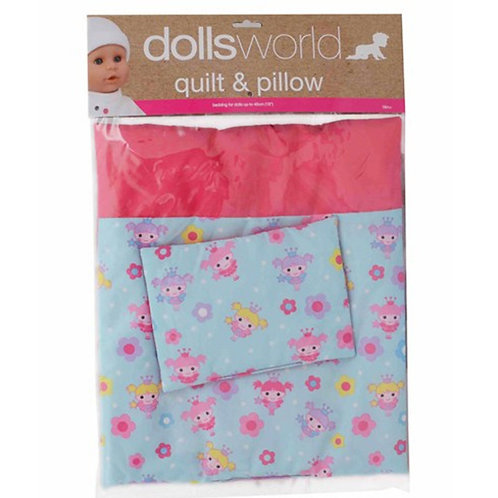 Dolls World Deluxe Quilt & Pillow