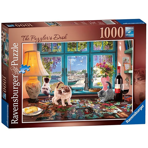 Ravensburger The Puzzler's Desk 1000 Piece Adult Jigsaw Puzzle