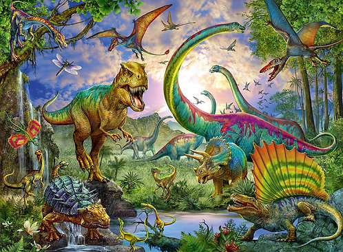 Realm of the Giants Dinosaur Jigsaw Puzzle