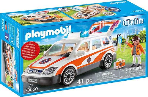 Playmobil 70050 City Life Emergency Ambulance Car with Siren Hospital