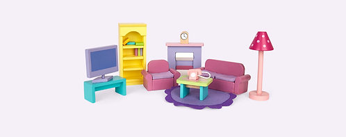Dolls Sitting Room Furniture Set