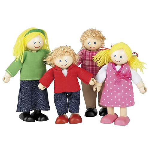 Wooden Doll Family of 4