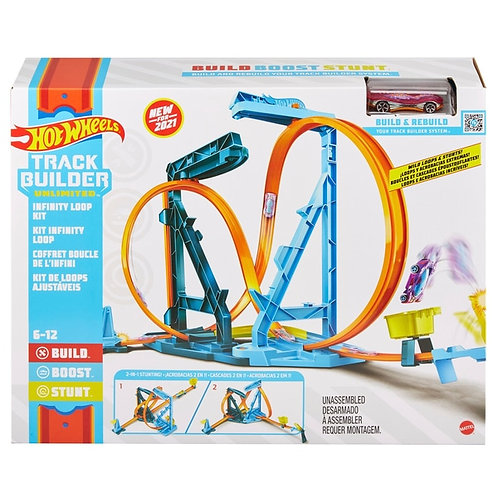 Hot Wheels Car Track Builder Infinity Loop Kit