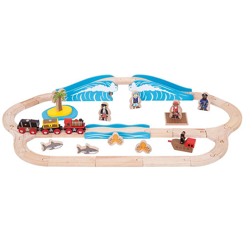Pirate Wooden Train Set from Bigjigs BJT038